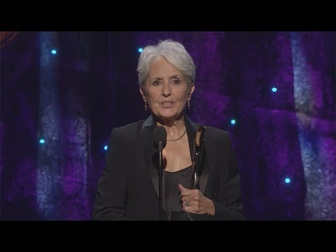 Joan Baez Induction Acceptance Speech - 2017 Rock Hall Inductions