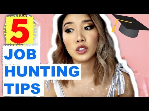 5 Job Hunting Tips for New Graduates | Business Major | 2018