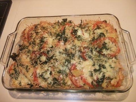 Baked Tomatoes & Potatoes  (A classic Italian  vegetarian dish)