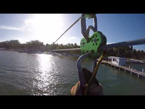 Fun New Over the Sea Zipline at Caribbean Villas Hotel