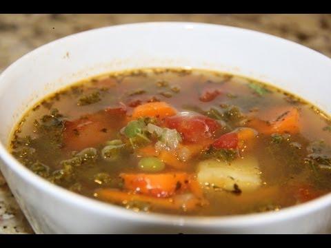 Kale Soup Vegan Vegetarian Organic Recipe Youtube