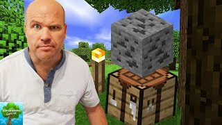 The Worlds Worst Gamer Plays Minecraft He CAN'T Figure Out How To Build A CRAFTING BOX!