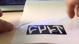 Как сделать наклейку/стикер в домашних условиях