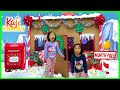 Emma and Kate Pretend Play Christmas Playhouse visiting the North Pole!!