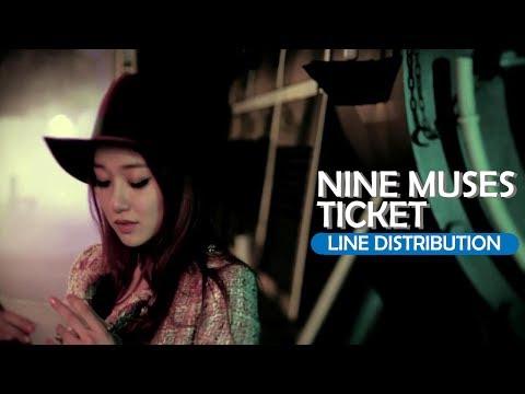 Nine Muses - Ticket (Line Distribution)
