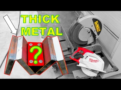 5 Ways to Cut Thick Steel - Which is Fastest? Carbide Circular Saw Blades