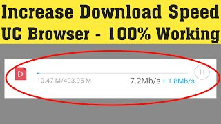 How To Increase UC Browser Download Speed || Speed Up UC Browser Download Speed screenshot 3
