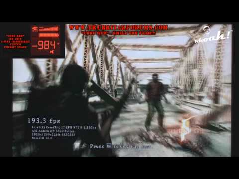 (HD) HD 5870 4 way CrossfireX Resident Evil 5