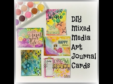 DIY Mixed Media Journal Cards for Planning/ Creative Journal
