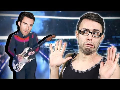 Adam Levine Super Bowl GUITAR FAIL! Mp3