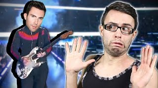 Adam Levine Super Bowl GUITAR FAIL!