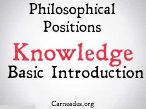 Epistemology (5 Minute Philosophical Positions)