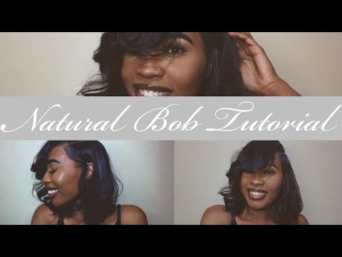 Natural Bob Quickweave W/ Closure| Beauty Supply Store Hair!