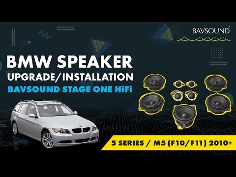 BAVSOUND - BMW 5 Series / M5 (F10/F11) 2010+ Stage One HiFi Speaker Upgrade Install