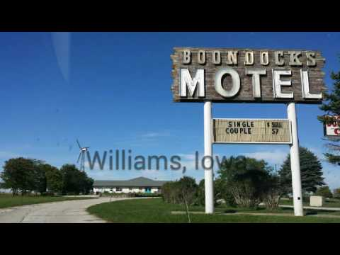 Side of the road Motel: the Boondocks Motel & Cafe (Williams, Iowa)
