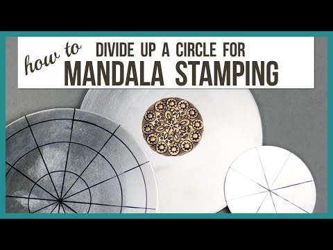 How to Divide up a Circle Blank for Mandala Metal Stamping - Beaducation.com
