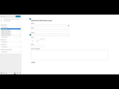 How to Create 2 or 3 Column Layout for Gravity Forms - YouTube
