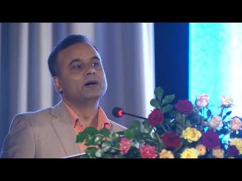 Bhimarjun Acharya speaking at Sushil Koirala Memorial Foundation