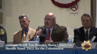 Sheriff Tom Bosenko, Shasta County CA