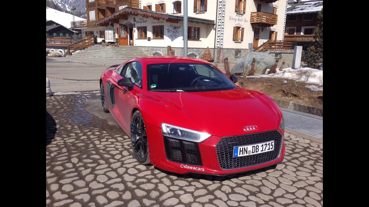 2016 Audi R8 V10 PLUS  testing prototype  Start up  YouTube