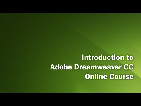 Dreamweaver CC Introduction Class   Part 1