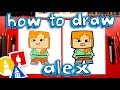 How To Draw Alex From Minecraft
