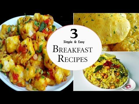 3 Easy Breakfast Recipes