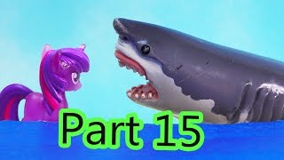 MLP Airplane Airport - Shark Waters - My Little Pony Travel Part 15 Twilight Pinkie Pie Series Video