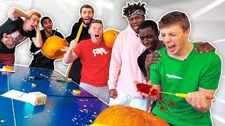 ENTER SIDEMEN CLOTHING GIVEAWAY HERE: http://bit.ly/SDMNControllerGiveaway SIDEMEN TRY TO CARVE PUMPKINS FOR HALLOWEEN, BUT AS ...