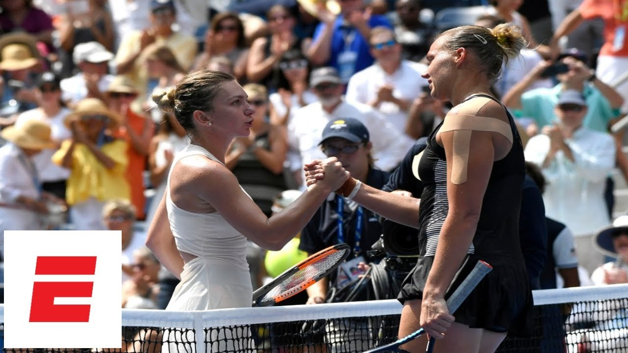 2018 US Open highlights: No. 1 Simona Halep upset in 1st round by Kaia Kanepi | ESPN