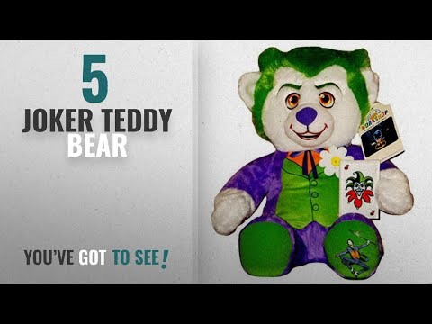 bf4053e9df9 Top 10 Joker Teddy Bear  2018   Build a Bear The Joker Batman Supervillain