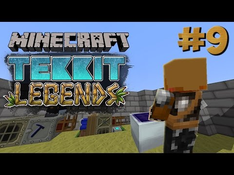 Minecraft Tekkit Legends #9 - Making a solar panel