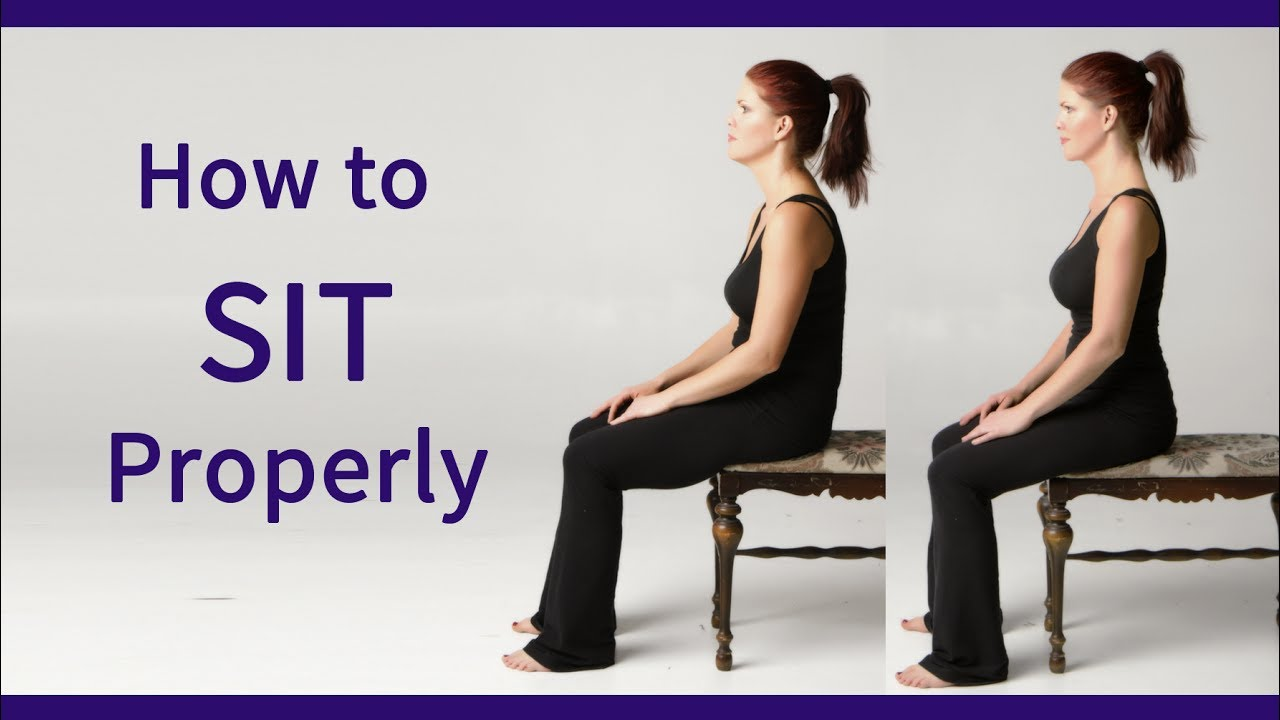 Posture Coach Shows How To Sit Properly Youtube