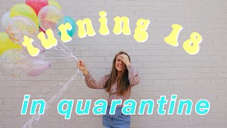 18th birthday in quarantine vlog!!  birthday parade, birthday photoshoot, social distancing party!!