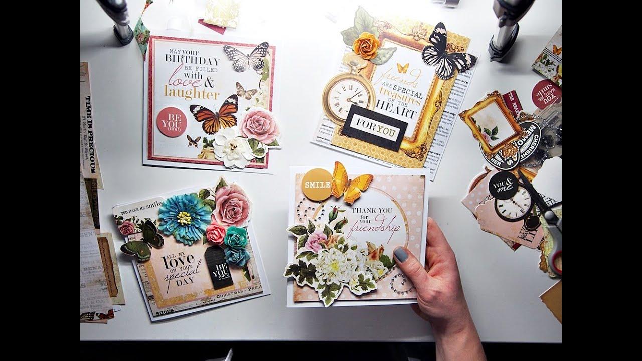 4 Simple Cards 1 Scrapbooking Kit Tutorial Maremis Small Art