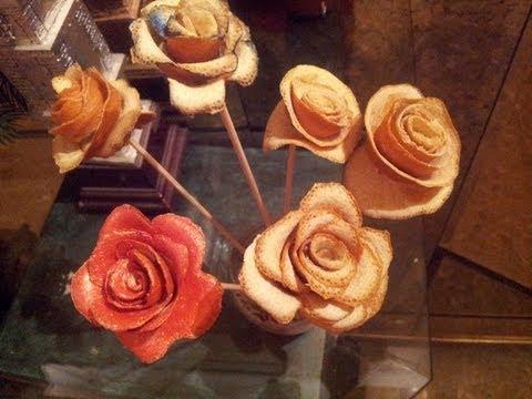 Como hacer rosas de naranja perfumada detalles de - Como hacer flores ...