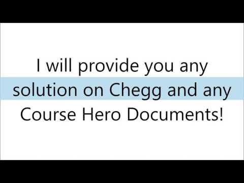 Unlock Coursehero doc and Chegg by thomass chenn