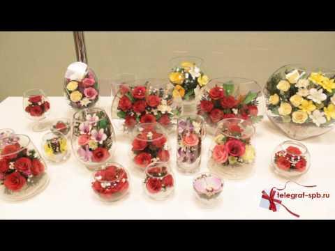 Живые цветы в вакууме - Роза в вазе