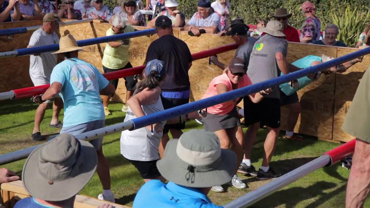 Human Foosball Match at GVP Resort