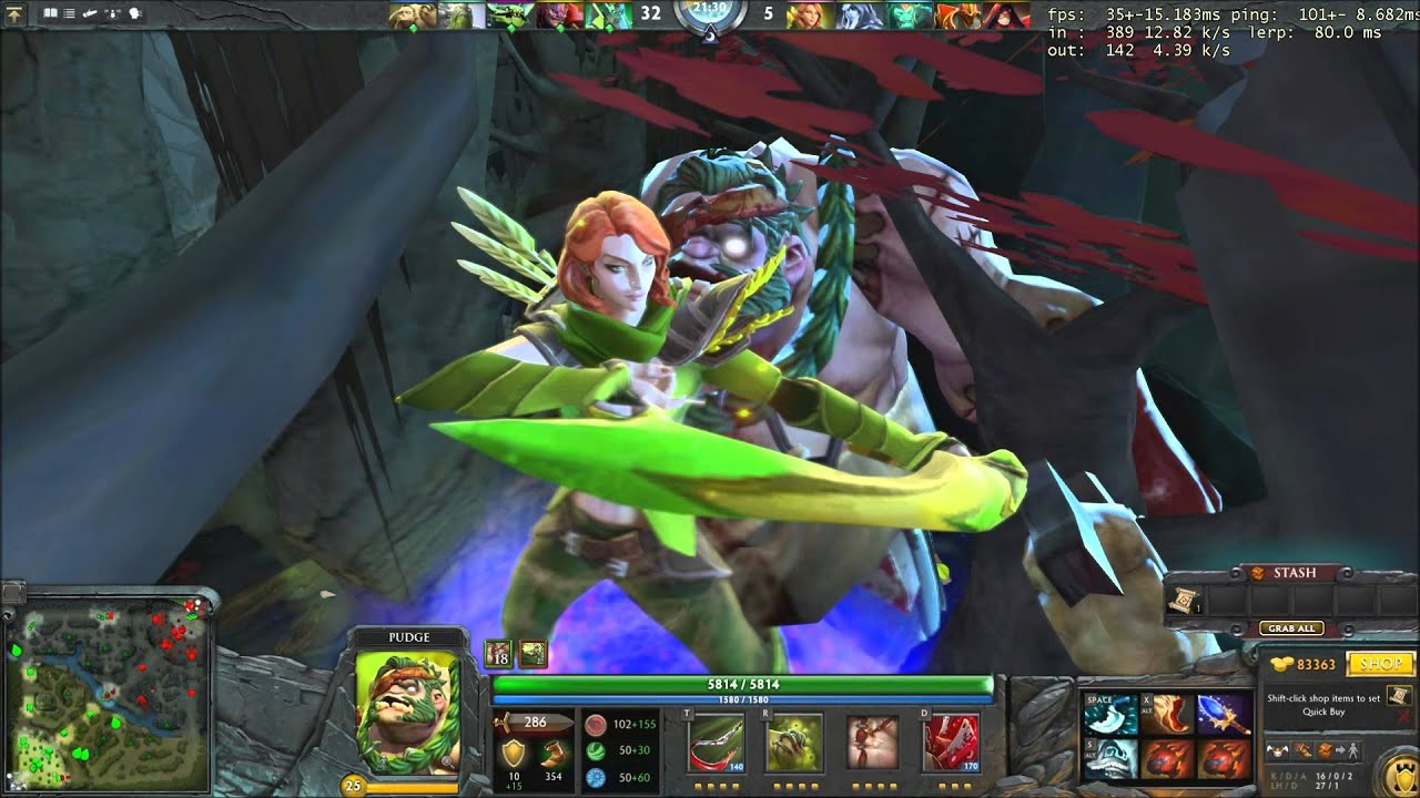pudge rapes windrunner dota 2 lovestory youtube