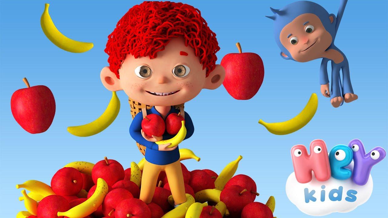 Des pommes et des bananes 🍎 Comptine bébé 🍌 HeyKids Français