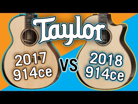 Taylor 2017 914ce vs 2018 914ce V-Class Comparison