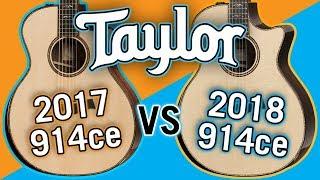 Taylor 2017 914ce vs 2018 914ce V-Class Comparison