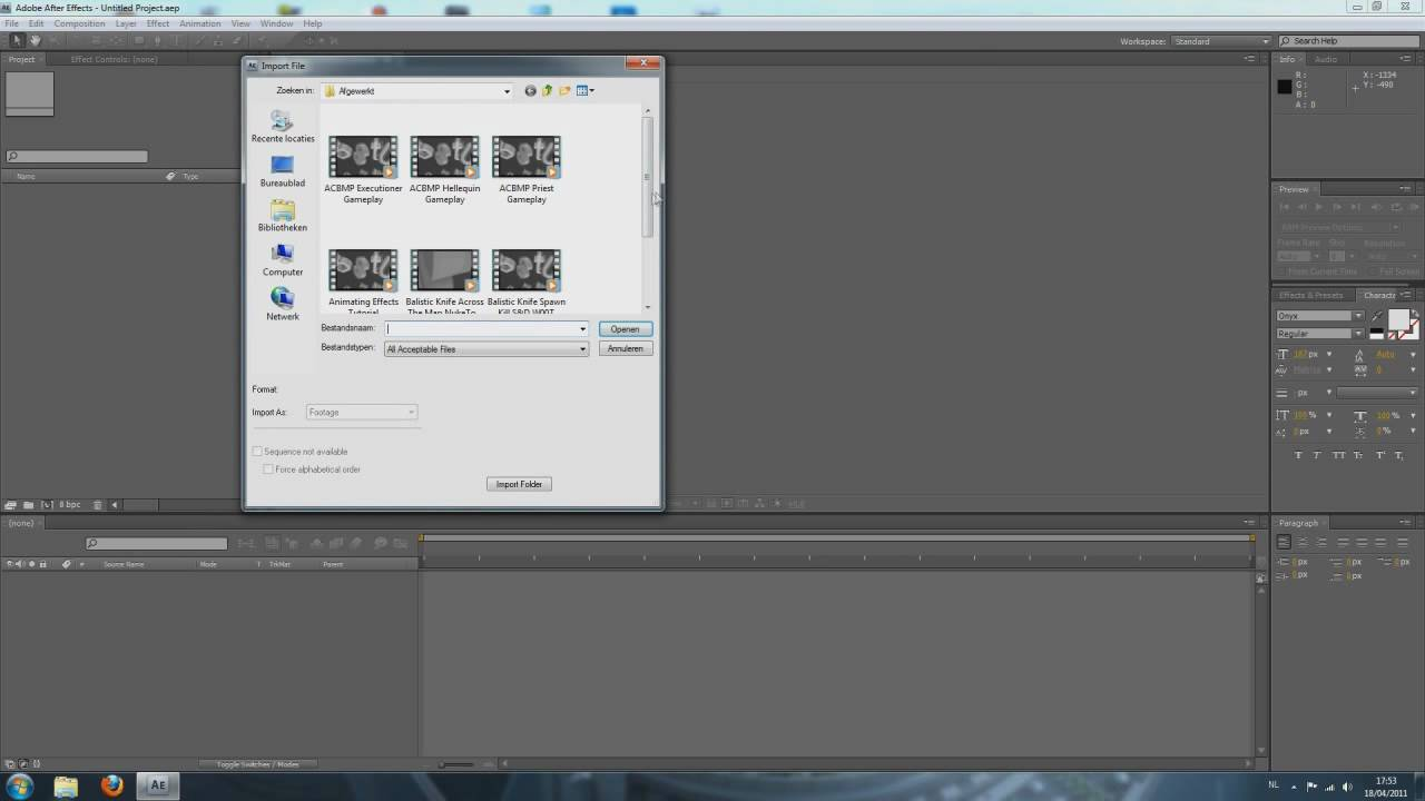 Adobe After Effects CS4 Tutorial - Properly Importing Files // HD ...