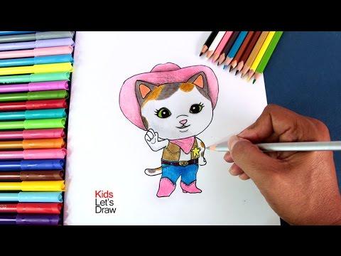 Cómo Dibujar A La Sheriff Callie En El Oeste How To Draw Sheriff Callies Wild West