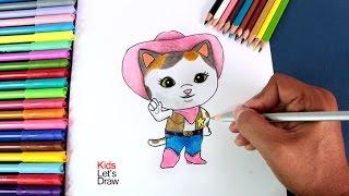 Cómo dibujar a la Sheriff Callie en el Oeste | How to draw Sheriff Callie's Wild West