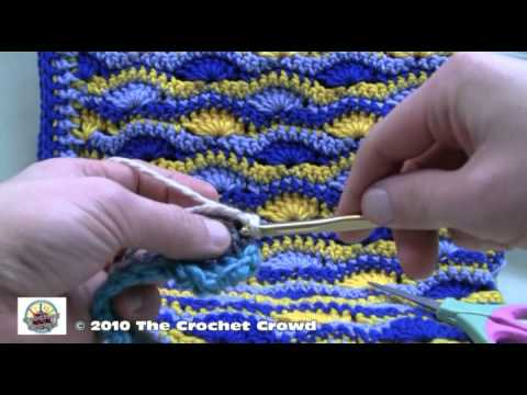 Crochet Afghan Patterns Youtube : How To Crochet Wavy Shell Stitch Afghan Part 2 - YouTube