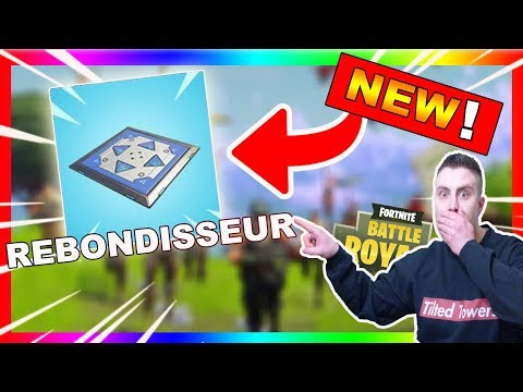 ➡️TREMPLIN REBONDISSEUR ARRIVE sur FORTNITE BATTLE ROYALE