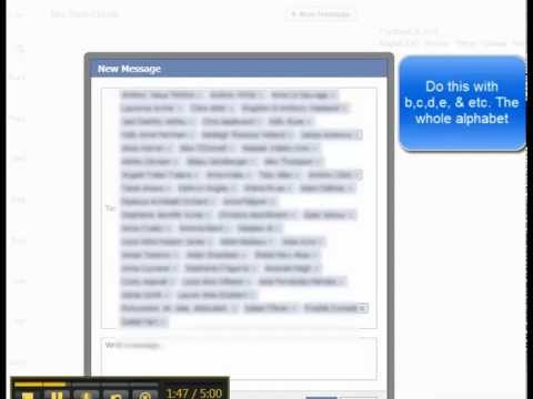 how to create a message group on facebook