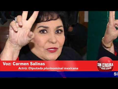 Entrevista con Carmen Salinas actriz mexicana hoy diputada plurinominal por el PRI